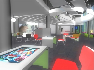 Cafe Foyer at University of Salford, MediaCityUK
